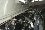 Blick auf die rechte Oberseite des DB 605 mit dem Entlüfter auf dem Kurbelgehäusedeckel des DB 605