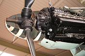 Zahnkranz für die Propellerblattverstellung zwischen der Propellernabe der VDM-Verstellluftschraube und dem Untersetzungsgetriebe
