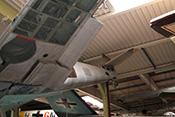 Blick in das Innere der Bf109-Tragfläche mit dem Holm (Vollwandträger in Doppel-T-Profil), den aussteifenden Rippen und Längsprofilen
