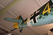 Heck der Bf 109 mit Spornrad, Höhen- und Seitenleitwerk