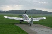 Messerschmitt Bf 109 G-4 'rote 7' bei ihrer ersten öffentlichen Vorführung in Albstadt-Degerfeld