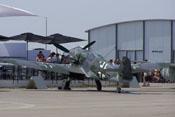 Messerschmitt Bf 109 G-10 'Schwarze 2' der Messerschmitt Stiftung auf der Internationalen Luft- und Raumfahrtausstellung in Berlin