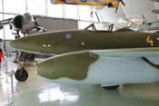 Das erste Jagdflugzeug mit Strahltriebwerk - Messerschmitt Me 262 'Schwalbe' im Royal-Airforce-Museum in London-Hendon