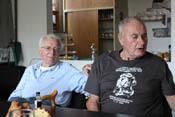 Veteranen im Gespräch - rechts Heinz Federwisch vom Stab der III.Gruppe des JG4