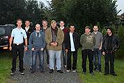 Kruger, Gotha229, Greif, Jos, Falkenberg, Dui, Alter Fritz, Widukind, Raven und Kran vor der Abfahrt nach Kovarska