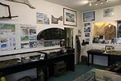 Ausstellungsraum im Museum der Luftschlacht über dem Erzgebirge
