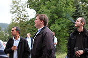 Alter Fritz, Helofly und Smokey (VSG1) beim Betrachten des Flugprogramms