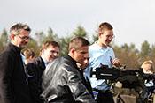 Jos, Helofly, Lebano, Alter Fritz und Kruger auf der Ladefläche des amerikanischen Halbkettenfahrzeuges