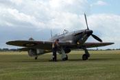 Hawker Hurricane Mk12A G-HURI HA-C und Pilot