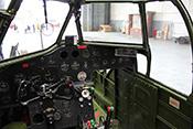 Cockpit eines Bombers Typ Bristol Blenheim der britischen Royal-Air-Force