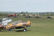 Flying Legends 2016 - Beginn der Flugshow / Mustangs, Wildcat, Corsairs und Bearcat am Abflugpunkt