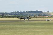 Start der Supermarine Spitfire Vb G-LFVB (1942) zur Flying-Legends-Airshow 2016