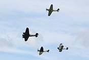 RAF-Formation aus Bristol Blenheim, Hawker Hurricane, Supermarine Spitfire und Gloster Gladiator