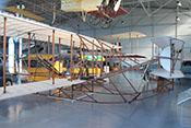 Nachbau des Wright-Flyers Nummer 4 im Hangar 'Troster'