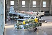 Nardi FN305, Macchi C200 und Cant Z506S im Hangar 'Badoni'