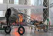 Stahlrohr-Gitterrumpf des Schulflugzeug-Doppeldeckers IMAM Ro 41 von 1933