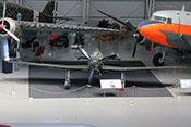 Frontansicht des Jagdflugzeuges Fiat G 55 'Centauro'