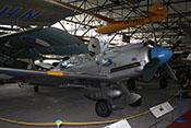 Avia CS-199 (Seriennummer 565), doppelsitzige Nachkriegsfertigung des deutschen Jagdflugzeuges Messerschmitt Bf 109 G