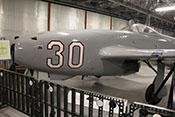 Jagdflugzeug Jakowlew Jak-17 (Seriennummer IS-10001) von 1948, in der Tschechoslowakei unter der Bezeichnung S-100 getestet