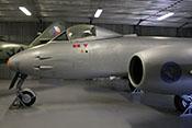 Britisches Jagdflugzeug Gloster Meteor F.Mk.8 (Seriennummer EG247) von 1953
