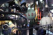 Ausstellungsstücke zum Thema Weltall, Raumfahrt und Raketentechnik