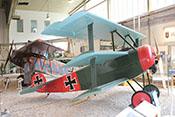 Dreidecker-Jagdflugzeug Fokker Dr.I ( Kenn.Nr. 152/17) der Fliegertruppe des Deutschen Heeres im Ersten Weltkrieg