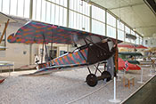 Doppeldecker-Jagdflugzeug Fokker D VII F (Kenn.Nr. 7775/18), Erstflug Januar 1918