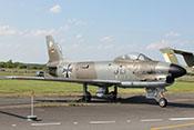 Allwetterjagdflugzeug North American F-86K mit vier 20-mm-Kanonen von 1956