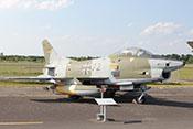 """Leichtes Erdkampf- und Aufklärungsflugzeug Fiat G. 91 R/3 """"Gina"""" 32+72 (W.Nr. 542), das erste nach dem 2. Weltkrieg in der BRD gebaute Strahlflugzeug"""