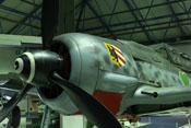 Wappen der I. Gruppe / Jagdgeschwader 54 auf der Triebwerksverkleidung der Focke-Wulf Fw 190 S-8 (WNr. 584219)