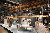 Rumpf- und Tragflächengerüst einer Fokker D VII
