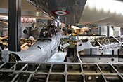 Heckansicht des Sturzkampfbombers Junkers Ju 87 R-2 L1-BL 'Werknummer 5856'