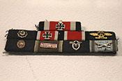 Ordensspange u.a. mit Eichenlaub zum Ritterkreuz, Deutschem Kreuz in Gold, EK1, EK2, Frontflugspange und Verwundetenabzeichen