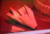 Zersplitterte Spitze einer 42-cm-Granate